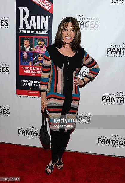 Actress Kate Linder arrives at the opening night of 'Rain A Tribute To The Beatles' at the Pantages Theatre on April 12 2011 in Hollywood California