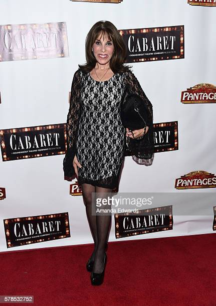 Actress Kate Linder arrives at the opening of Cabaret at the Hollywood Pantages Theatre on July 20 2016 in Hollywood California