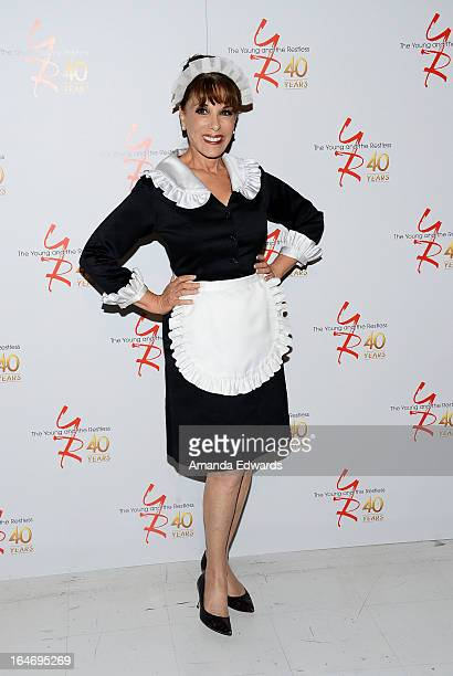 Actress Kate Linder attends the The Young The Restless 40th anniversary cakecutting ceremony at CBS Television City on March 26 2013 in Los Angeles...