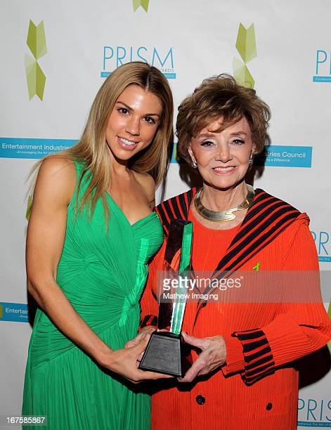 Actress Kate Mansi and actress Peggy McCay recipient of the award for daytime drama storyline for 'Days of our Lives' attend the 17th Annual PRISM...