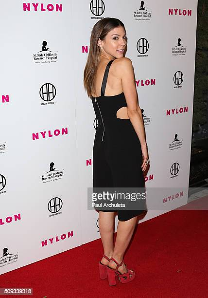 Actress Kate Mansi attends NYLON Magazine's Muses And Music Party at No Vacancy on February 9 2016 in Los Angeles California
