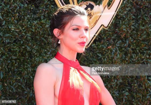 Actress Kate Mansi attends the 44th annual Daytime Emmy Awards at Pasadena Civic Auditorium on April 30 2017 in Pasadena California