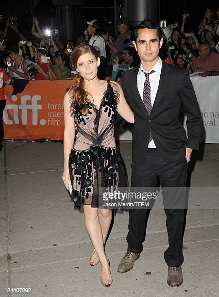 Actress Kate Mara and Actor Max Minghella arrive at Ides Of March Premiere at Roy Thomson Hall during the 2011 Toronto International Film Festival on...