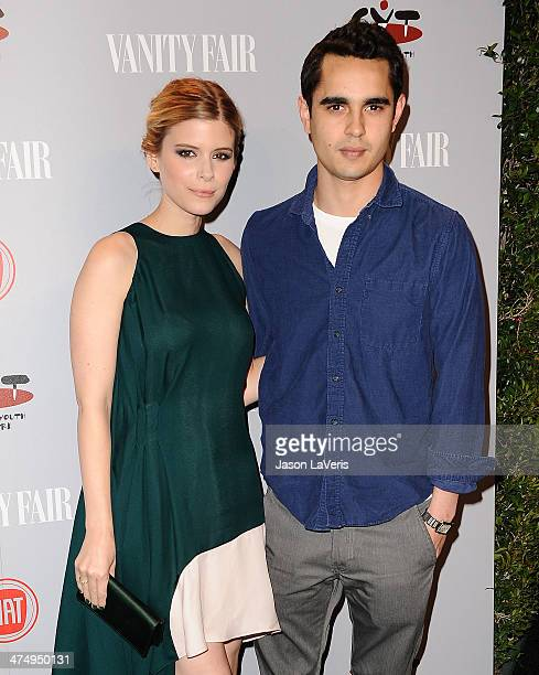 Actress Kate Mara and actor Max Minghella attend the Vanity Fair Campaign Young Hollywood party at No Vacancy on February 25 2014 in Los Angeles...