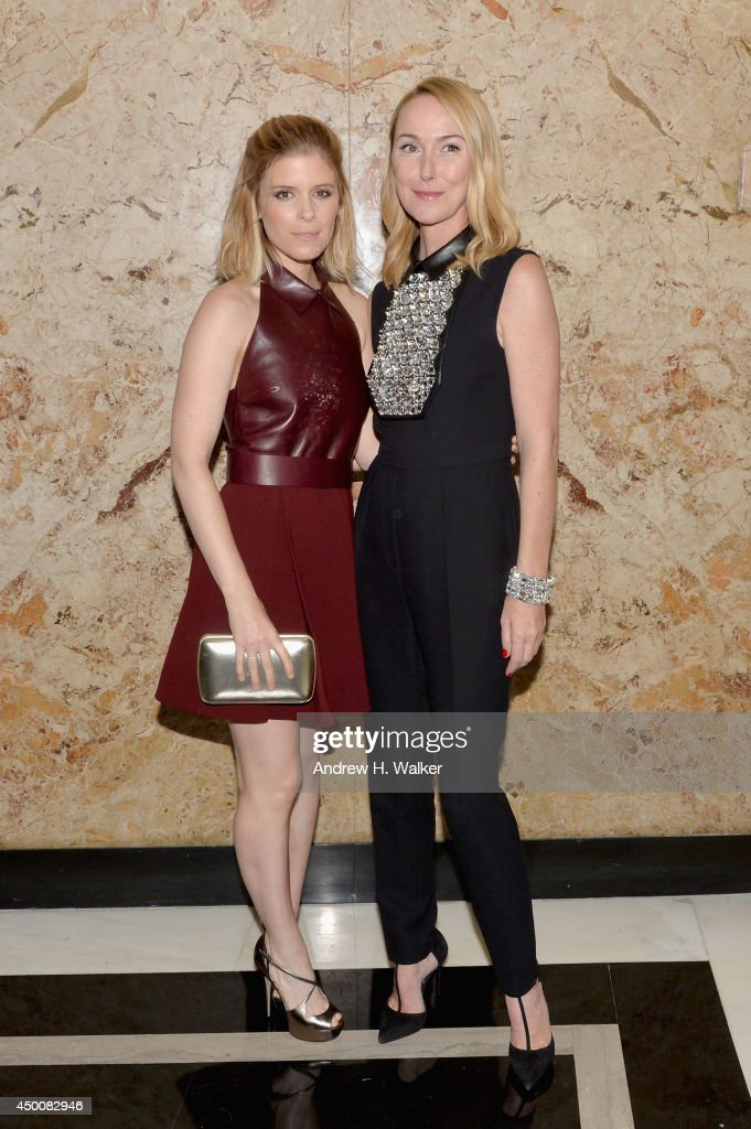 Actress Kate Mara (L) and Gucci Creative Director Frida Giannini attend the Gucci beauty launch event hosted by Frida Giannini on June 4, 2014 in New York City.