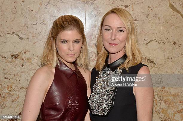 Actress Kate Mara and Gucci Creative Director Frida Giannini attend the Gucci beauty launch event hosted by Frida Giannini on June 4 2014 in New York...