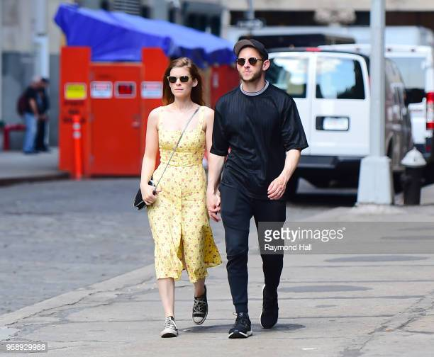 Actress Kate Mara and Jamie Bell are seen walking in soho on May 15 2018 in New York City