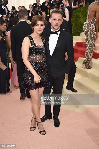 Actress Kate Mara and Jamie Bell attend the Manus x Machina Fashion In An Age Of Technology Costume Institute Gala at Metropolitan Museum of Art on...