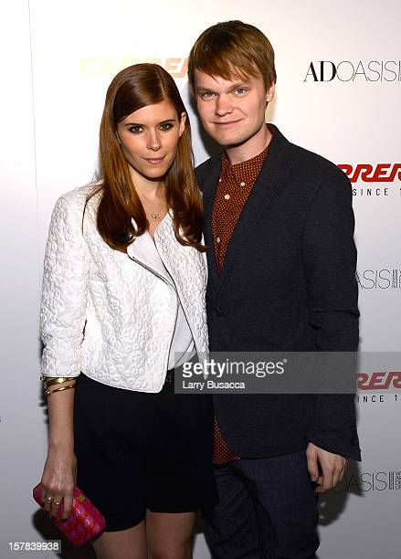 Actress Kate Mara and John Mara Jr arrive to the Carrera Cocktail Party hosted by AD Oasis at The Raleigh on December 6 2012 in Miami Florida