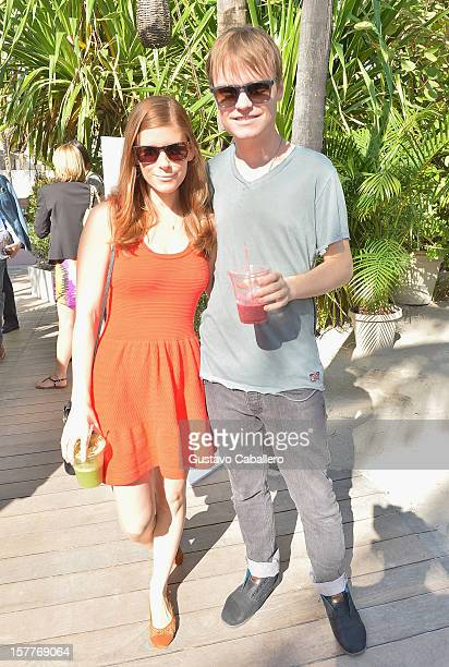 Actress Kate Mara and John Mara Jr attend the AD Oasis at The Raleigh on December 6 2012 in Miami Florida