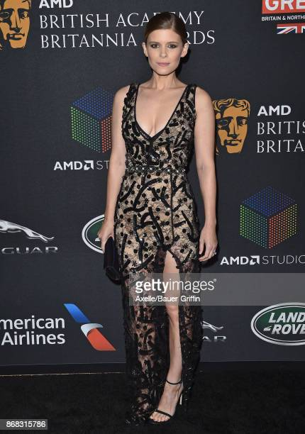 Actress Kate Mara arrives at the 2017 AMD British Academy Britannia Awards at The Beverly Hilton Hotel on October 27 2017 in Beverly Hills California