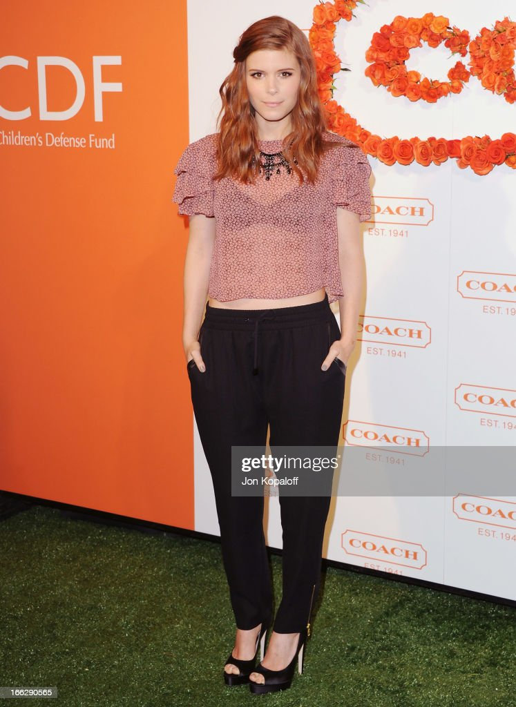 Actress Kate Mara arrives at the 3rd Annual Coach Evening To Benefit Children's Defense Fund at Bad Robot on April 10, 2013 in Santa Monica, California.