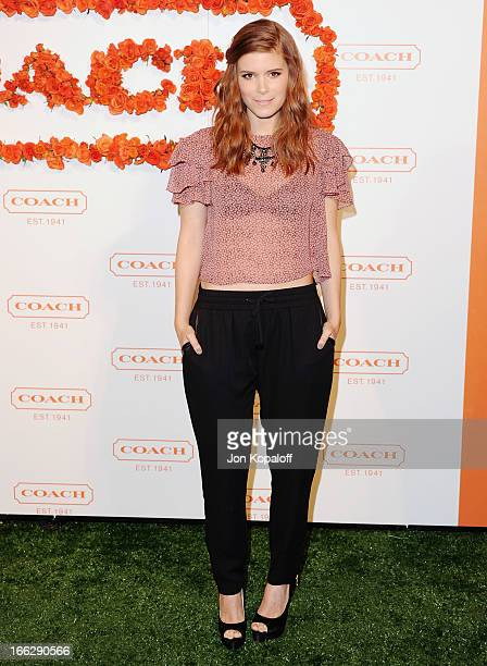 Actress Kate Mara arrives at the 3rd Annual Coach Evening To Benefit Children's Defense Fund at Bad Robot on April 10 2013 in Santa Monica California