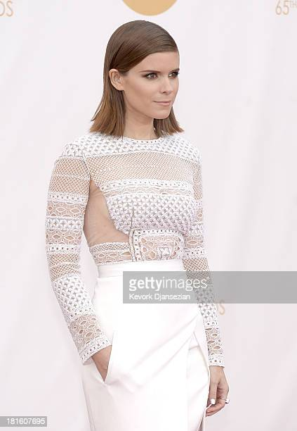 Actress Kate Mara arrives at the 65th Annual Primetime Emmy Awards held at Nokia Theatre LA Live on September 22 2013 in Los Angeles California