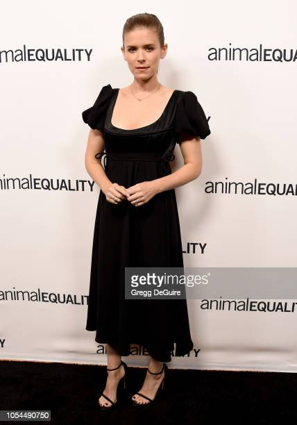Actress Kate Mara arrives at the Animal Equality's Inspiring Global Action Los Angeles Gala at The Beverly Hilton Hotel on October 27 2018 in Beverly...