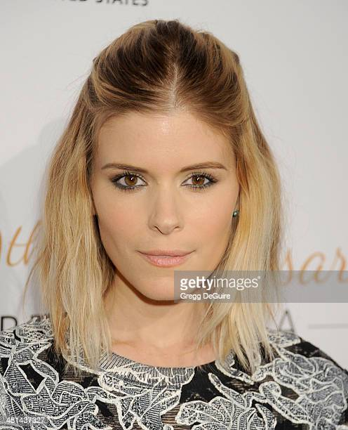 Actress Kate Mara arrives at The Humane Society Of The United States 60th anniversary benefit gala at The Beverly Hilton Hotel on March 29, 2014 in...
