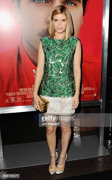 Actress Kate Mara arrives at the Los Angeles Premiere 'Her' at Directors Guild Of America on December 12 2013 in Los Angeles California