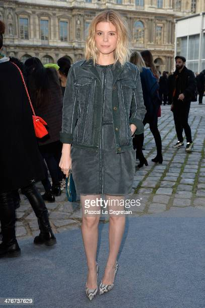 Actress Kate Mara arrives at the Louis Vuitton show as part of the Paris Fashion Week Womenswear Fall/Winter 2014-2015 on March 5, 2014 in Paris,...