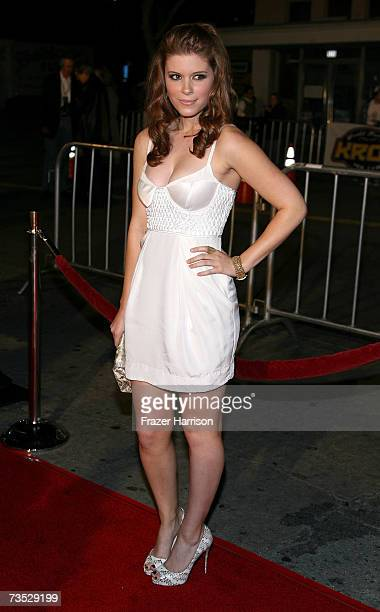 Actress Kate Mara arrives at the Paramount Pictures premiere of the film Shooter at the Mann Village Theatre on March 8 2007 in Westwood California