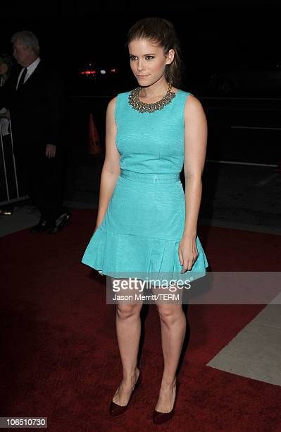 Actress Kate Mara arrives at the premiere of 127 Hours at the Academy Of Motion Picture Arts and Sciences Samuel Goldwyn Theater on November 3 2010...
