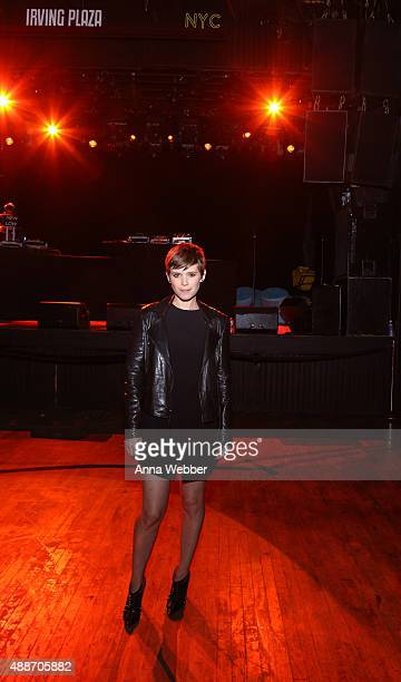 Actress Kate Mara attends DKNY Celebrates DaoYi Chow Maxwell Osbourne's Debut DKNY Collection at Irving Plaza on September 16 2015 in New York City