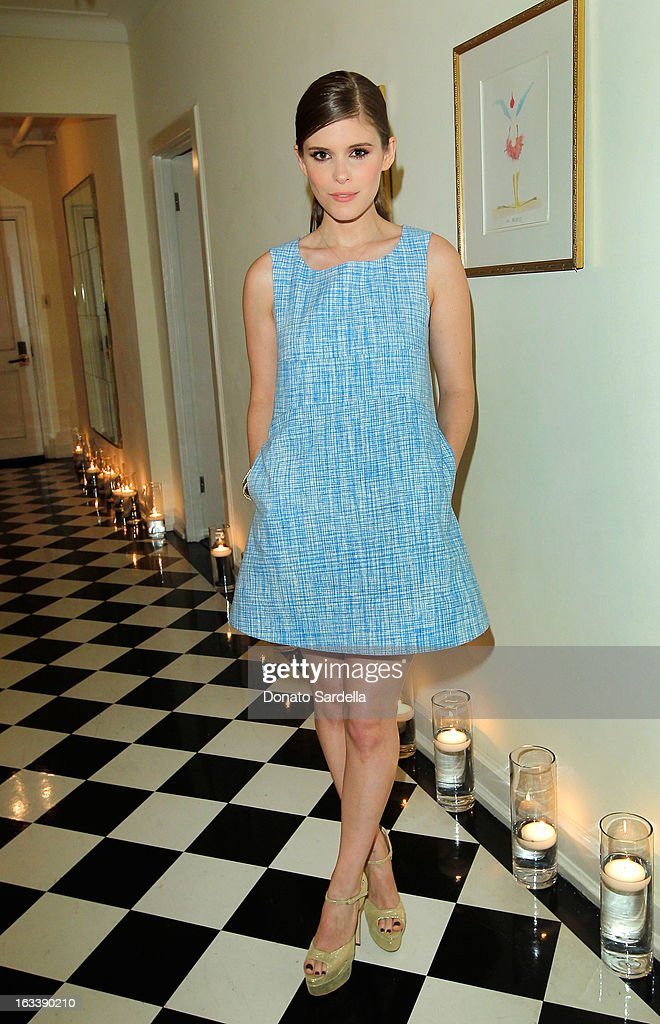 Actress Kate Mara attends Joe Fresh private dinner hosted by Joe Mimran and Kate Mara at The Chateau Marmont on March 8, 2013 in Los Angeles, California.