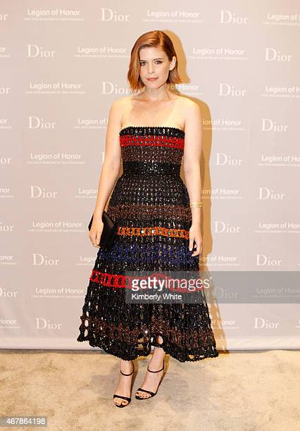Actress Kate Mara attends the 2015 MidWinter Gala presented by Dior at Legion Of Honor on March 27 2015 in San Francisco California