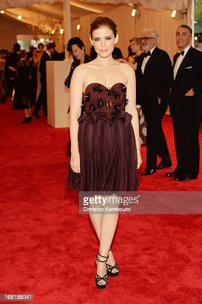 """Actress Kate Mara attends the Costume Institute Gala for the """"PUNK: Chaos to Couture"""" exhibition at the Metropolitan Museum of Art on May 6, 2013 in..."""