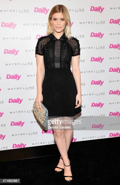 Actress Kate Mara attends the Maybelline New York and The Daily Front Row Fashion Hollywood Luncheon at Cecconi's Restaurant on February 25 2014 in...