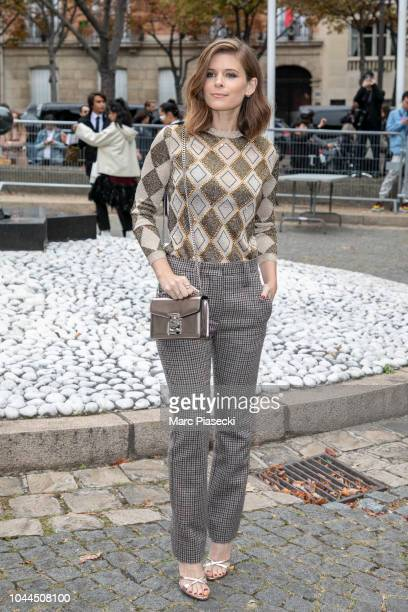 Actress Kate Mara attends the Miu Miu show as part of the Paris Fashion Week Womenswear Spring/Summer 2019 on October 2, 2018 in Paris, France.