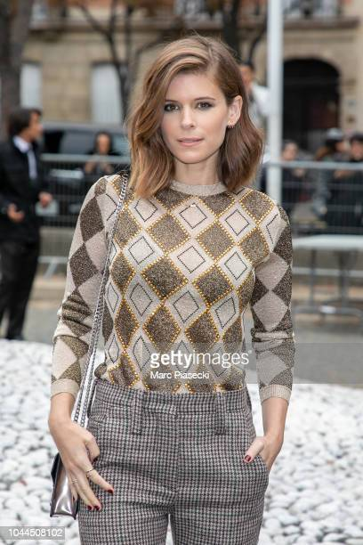 Actress Kate Mara attends the Miu Miu show as part of the Paris Fashion Week Womenswear Spring/Summer 2019 on October 2 2018 in Paris France