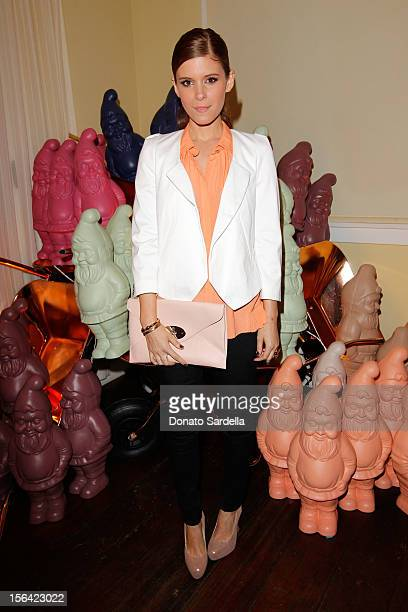 Actress Kate Mara attends the Mulberry SS13 Dinner at Chateau Marmont on November 14 2012 in Los Angeles California