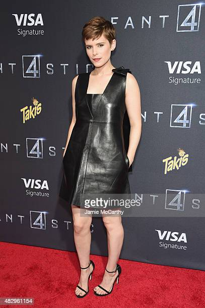Actress Kate Mara attends the New York premiere of 'Fantastic Four' at Williamsburg Cinemas on August 4 2015 in New York City