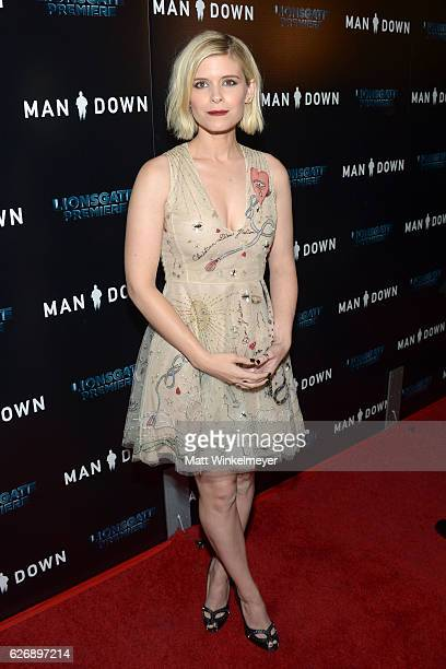 Actress Kate Mara attends the premiere of Lionsgate Premiere's Man Down at ArcLight Hollywood on November 30 2016 in Hollywood California