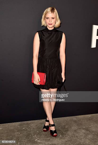 Actress Kate Mara attends the premiere of 'Past Forward' a movie by David O Russell presented by Prada on November 15 2016 at Hauser Wirth Schimmel...