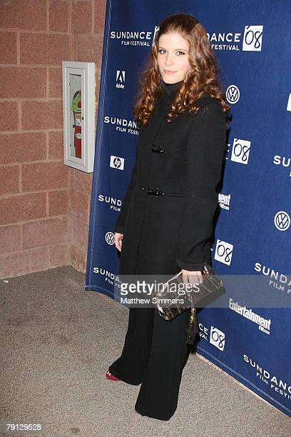 Actress Kate Mara attends the Transsiberian premiere during the 2008 Sundance Film Festival at the Eccles Theatre on January 18 2008 in Park City Utah