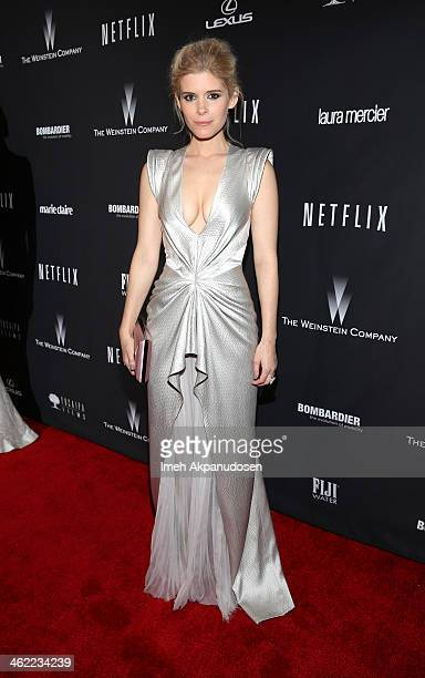 Actress Kate Mara attends The Weinstein Company Netflix's 2014 Golden Globes After Party presented by Bombardier FIJI Water Lexus Laura Mercier Marie...