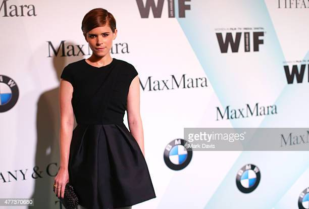 Actress Kate Mara wearing Max Mara attends the Women In Film 2015 Crystal Lucy Awards Presented by Max Mara BMW of North America and Tiffany Co at...