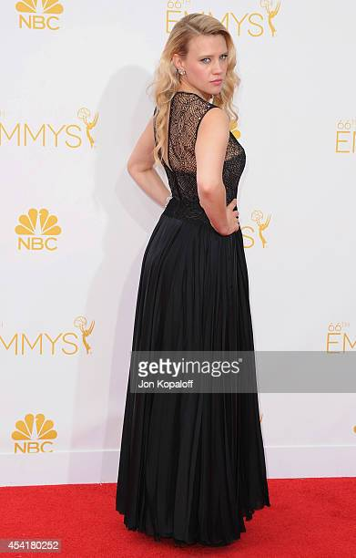 Actress Kate McKinnon arrives at the 66th Annual Primetime Emmy Awards at Nokia Theatre LA Live on August 25 2014 in Los Angeles California