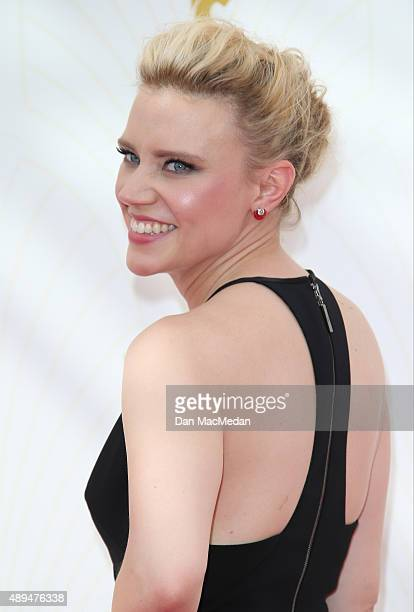 Actress Kate McKinnon arrives at the 67th Annual Primetime Emmy Awards at the Microsoft Theater on September 20 2015 in Los Angeles California