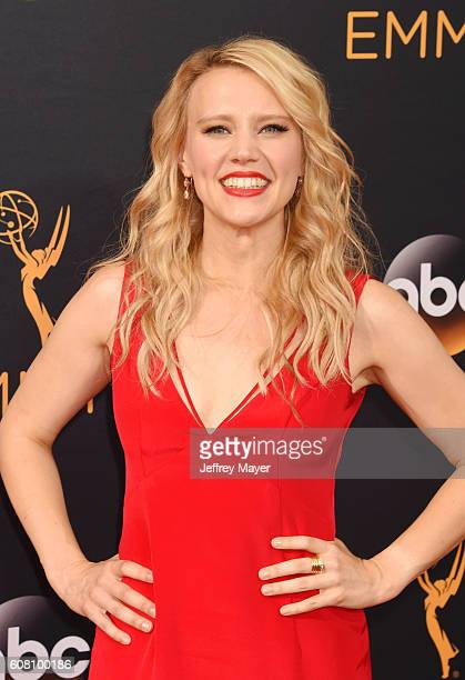 Actress Kate McKinnon arrives at the 68th Annual Primetime Emmy Awards at Microsoft Theater on September 18 2016 in Los Angeles California