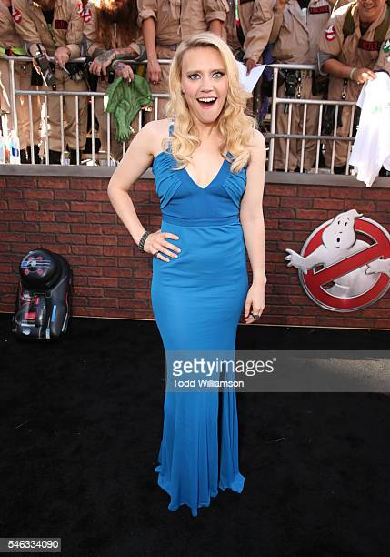 Actress Kate McKinnon attends the Premiere of Sony Pictures' 'Ghostbusters' at TCL Chinese Theatre on July 9 2016 in Hollywood California