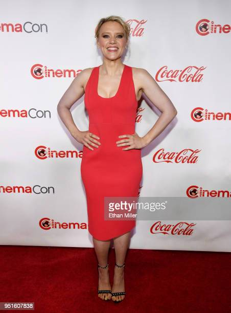 Actress Kate McKinnon recipient of the Comedy Star of the Year award attends the CinemaCon Big Screen Achievement Awards brought to you by the...