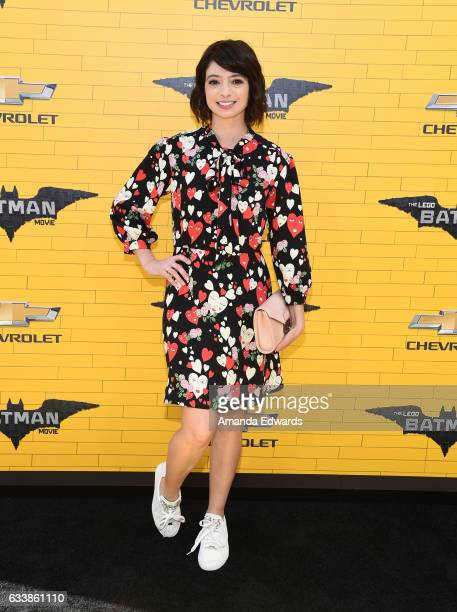 Actress Kate Micucci arrives at the premiere of Warner Bros Pictures' 'The LEGO Batman Movie' at the Regency Village Theatre on February 4 2017 in...