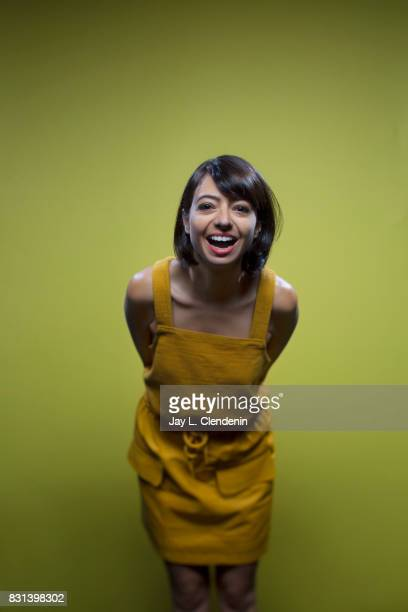 Actress Kate Micucci from the television series 'DuckTales' is photographed in the LA Times photo studio at ComicCon 2017 in San Diego CA on July 21...