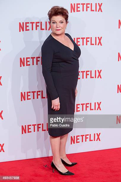Actress Kate Mulgrew attends Netflix presentation Red Carpet at 'Matadero' on October 20 2015 in Madrid Spain