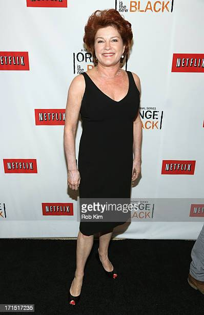 Actress Kate Mulgrew attends Orange Is The New Black New York Premiere at The New York Botanical Garden on June 25 2013 in New York City