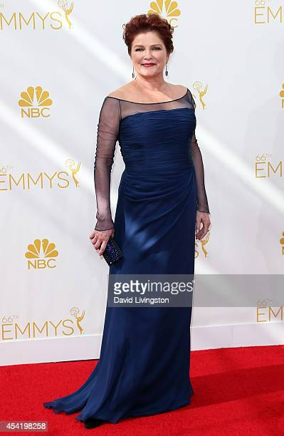 Actress Kate Mulgrew attends the 66th Annual Primetime Emmy Awards at the Nokia Theatre LA Live on August 25 2014 in Los Angeles California