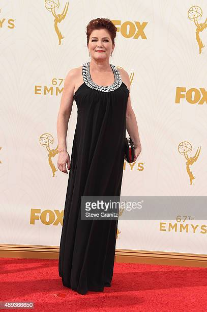 Actress Kate Mulgrew attends the 67th Annual Primetime Emmy Awards at Microsoft Theater on September 20 2015 in Los Angeles California