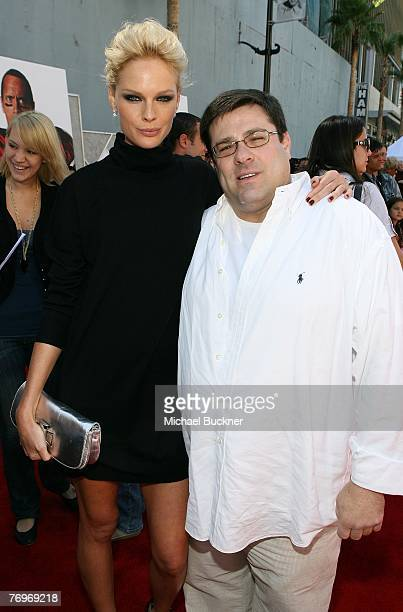 Actress Kate Nauta and director Andy Fickman arrives at the premiere of Walt Disney Picture's The Game Plan at the El Capitan Theatre on September 23...
